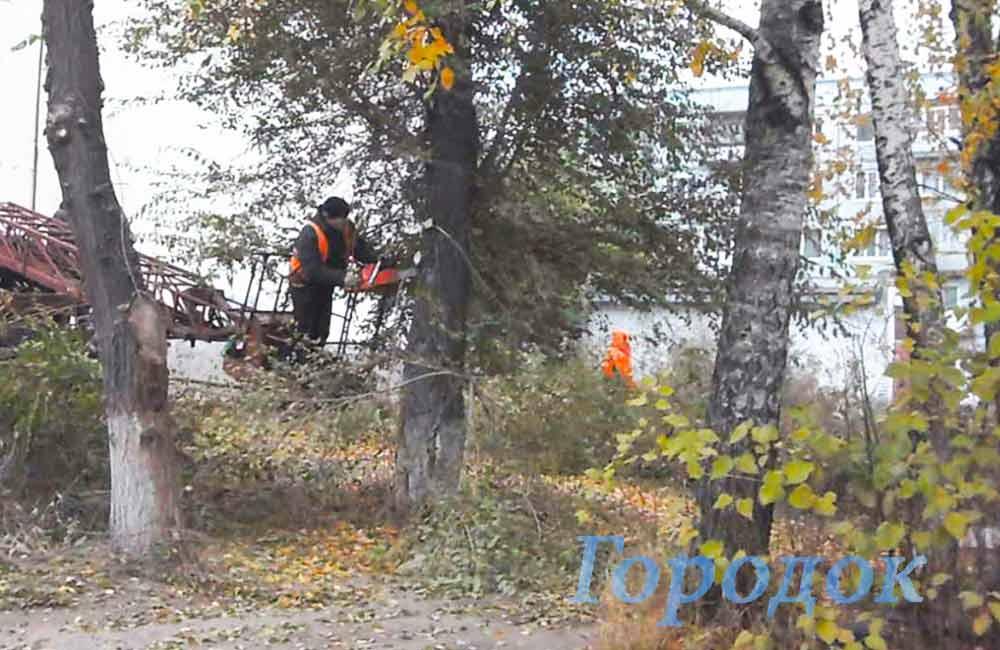 Осенний субботник в «Городке»