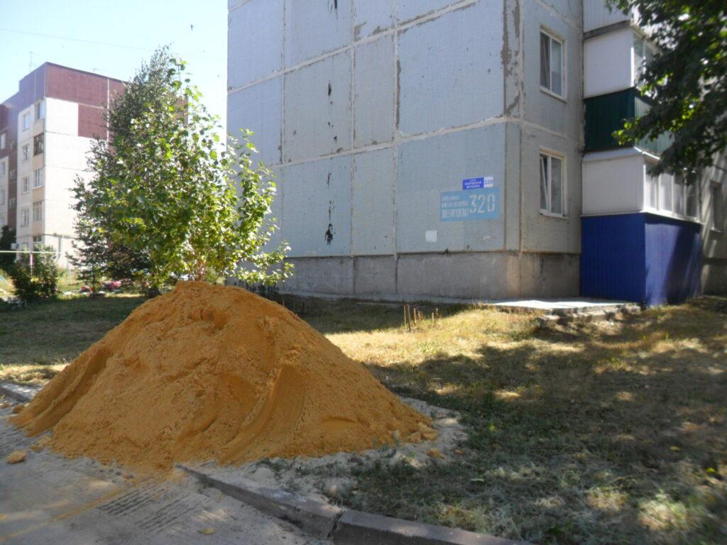 Песок на детские площадки
